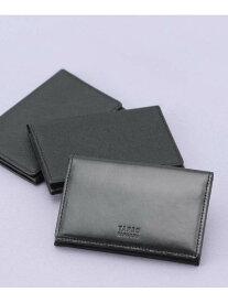 【SALE/40%OFF】TAKEO KIKUCHI 【WEB限定】ブラック×ブラックレザー名刺入れ タケオキクチ 財布/小物 パスケース/カードケース ブラック【送料無料】
