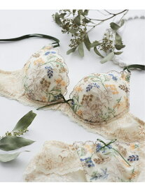 【SALE/20%OFF】une nana cool Fleur chamomile 3/4カップブラジャー ウンナナクール インナー/ナイトウェア ブラジャー ベージュ パープル ネイビー ホワイト グリーン