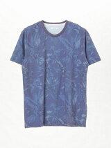 リーフプリント半袖Tシャツ