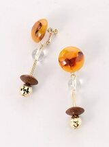 amplis/(L)Marble bekkou earrings [マーブル ベッコウ/イアリング]