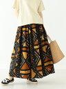 【SALE/30%OFF】BEAMS BOY orslow × BEAMS BOY / 別注 African Print Skirts ビームス ウイメン スカート ロングス…