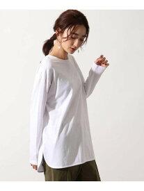 OZOC [26(S)/50(L)WEB限定サイズ][洗える]GIZA COTTONレイヤードロンT オゾック カットソー Tシャツ ホワイト ベージュ