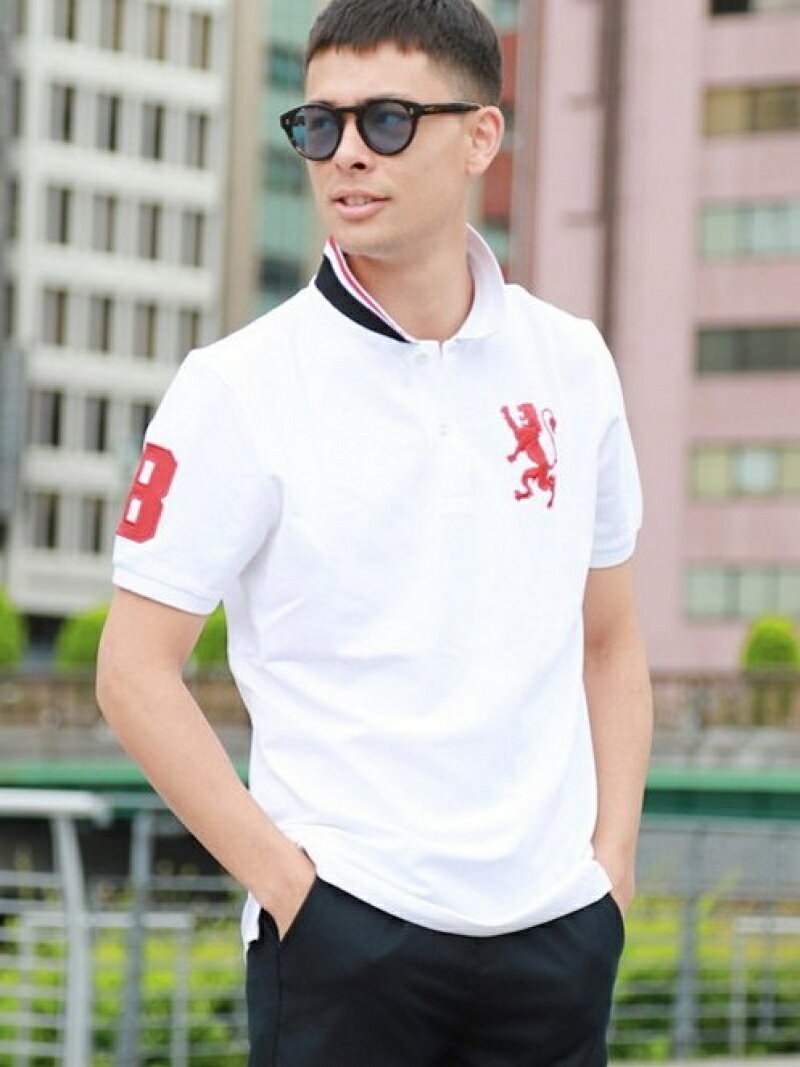 【SALE/10%OFF】GIORDANO (M)3Dライオンポロシャツ ジョルダーノ カットソー【RBA_S】【RBA_E】