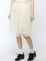 Parfum de Charmant Fleur/(L)メッシュ&チュールスカート