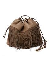 (L)カカトゥ kakatooロングフリンジ巾着ミニバッグ