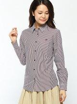 (W)ストライプカットソーシャツ