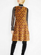 DAMASK JACQUARD MINI DRESS