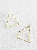 くりぬき三角ピアス