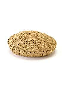 透かし編みペーパーベレー帽