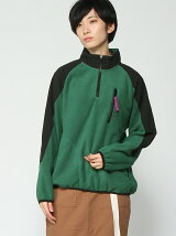 HALF ZIP FLEECE TOP