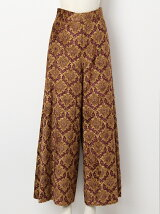 DAMASK JACQUARD WIDE LEG TROUSER