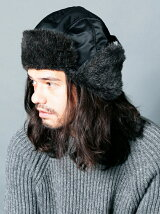NYLON FUR MILITARY PILOT CAP