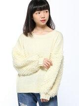 RETRO GIRL/モコモコループ袖切替NT