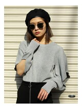 FRILL SHOULDER KNIT