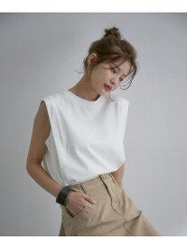 ViS 【vis-`a-vis】シルケットライクBOXYノースリーブTシャツ ビス カットソー カットソーその他 ホワイト ブラック ベージュ グリーン