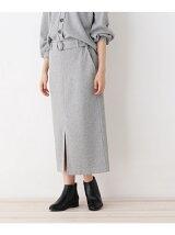 ベルト付きテレコスカート