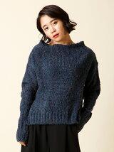 【秋の新作】バックロングラメセーター
