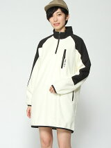 HALF ZIP FLEECE DRES