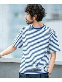 【SALE/50%OFF】nano・universe 【WEB限定】シルケットボーダービッグTシャツ半袖 ナノユニバース カットソー Tシャツ