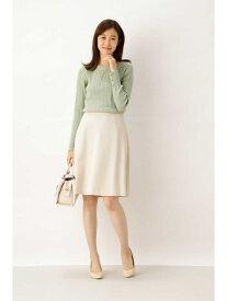 NATURAL BEAUTY BASIC [洗える]ステファニーセットアップスカート ナチュラルビューティベーシック スカート スカートその他 ベージュ ブラック【送料無料】