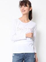 グラデーション刺繍ロングTシャツ