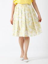 【WEB限定大きいサイズ】水彩フラワープリーツスカート