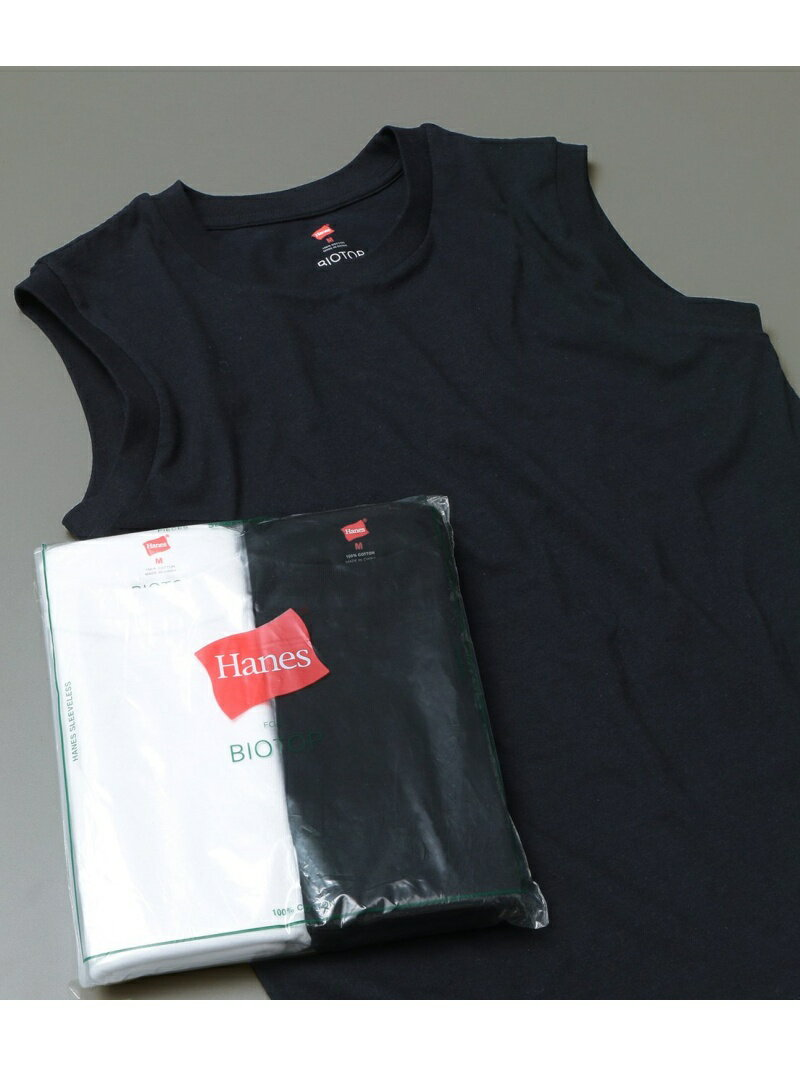 ADAM ET ROPE' FEMME 【Hanes FOR BIOTOP】Sleeveless T-Shirts 2color アダムエロペ カットソー【送料無料】