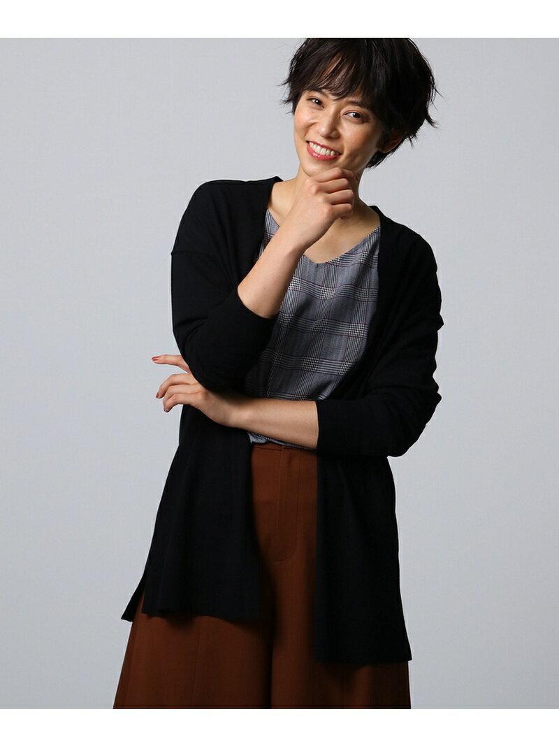UNTITLED [L]カーディガン×グレンチェックブラウスSET アンタイトル ニット【送料無料】