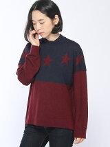 (W)Hilfiger Denim/スターモチーフセーター