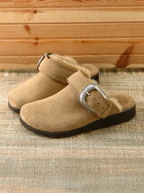 NATIVE BUCKLE FUR SANDAL