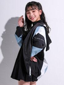 【SALE/10%OFF】ZIDDY ドルマンスリーブ カラー切り替え ジャケット(130~160cm) ベベ オンライン ストア コート/ジャケット テーラードジャケット ブルー ピンク