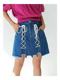 【SALE/79%OFF】MURUA スピンドルDENIM ミニスカート ムルーア スカート デニムスカート ブルー