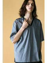<monkey time>  PIN OX VNECK PULLOVER SHIRT/シャツ
