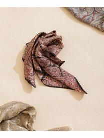 【SALE/30%OFF】Le Vernis ペイズリースカーフ2 ナノユニバース ファッショングッズ スカーフ/バンダナ ブラック ベージュ ブラウン【送料無料】