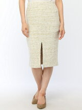 ツィードスリットタイトスカート