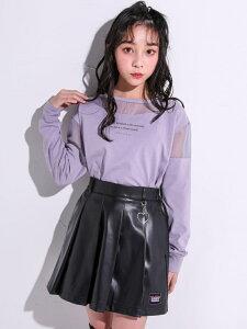 【SALE/30%OFF】ZIDDY チャーム付き プリーツ 合皮 スカートパンツ(130~160cm) ベベ オンライン ストア パンツ/ジーンズ ショートパンツ ブラック