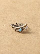 Feather Turquoise Pierce