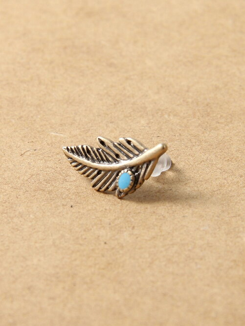 Feather Turquoise Pierce