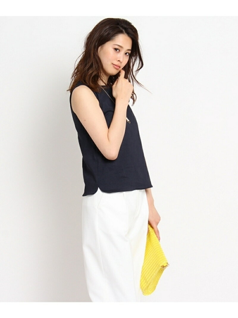 【SALE/70%OFF】UNTITLED [L]リネンノースリーブシャツ アンタイトル シャツ/ブラウス【RBA_S】【RBA_E】【送料無料】