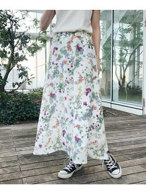 【SALE/72%OFF】aquagirl フラワープリントフレアスカート アクアガール スカート スカートその他 ホワイト ブラック【送料無料】