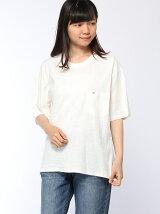 (W)Hilfiger Denim/ボクシーTシャツ