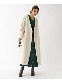 【SALE/20%OFF】aquagirl 起毛ライトノーカラーコート アクアガール コート/ジャケット ノーカラージャケット ホワイト グレー ブラウン【送料無料】