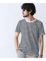 ボーダークルーネックTシャツ S/S