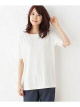 【UVカット】スーピマコットンサイドスリットTシャツ