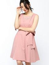 Dorry Doll/(W)ネックレス付サイドリボンフレアーワンピース