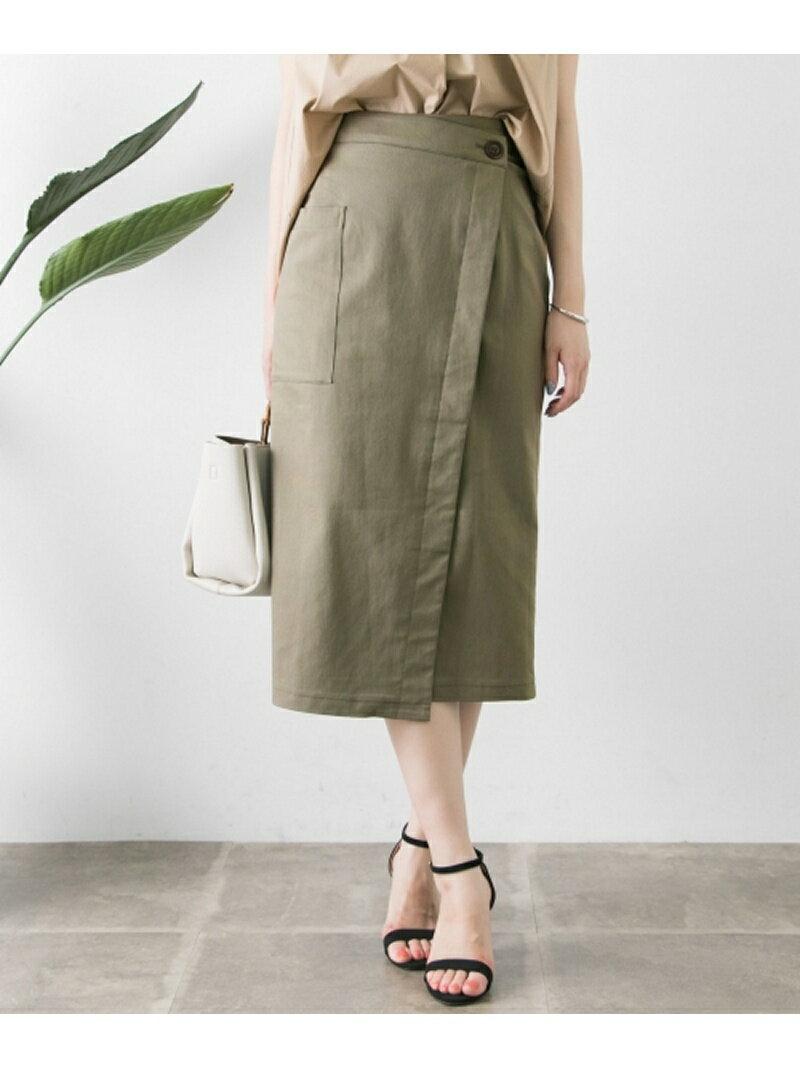 【SALE/34%OFF】ポケット付ラップストレートスカート アーバンリサーチ スカート【RBA_S】【RBA_E】【送料無料】