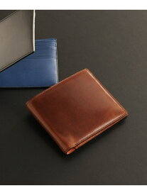 PRAIRIE [PRAIRIE]コードバン二つ折り財布両カード ミアボルサ 財布/小物 財布 ブラウン ブラック【送料無料】
