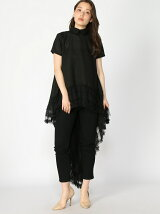 Tail Mesh Woven Frill