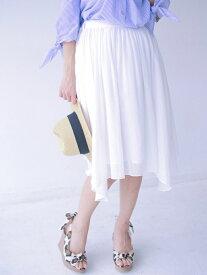 【SALE/60%OFF】nina mew ランダムヘムスカート ニーナミュウ スカート【RBA_S】【RBA_E】【送料無料】