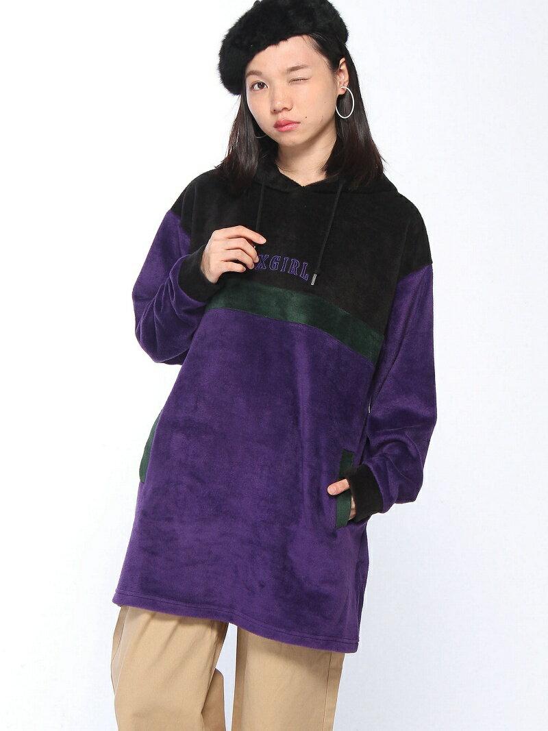 【SALE/40%OFF】X-girl 【ワンピース】FLEECY COLORBLOCK DRESS エックスガール ワンピース【RBA_S】【RBA_E】【送料無料】